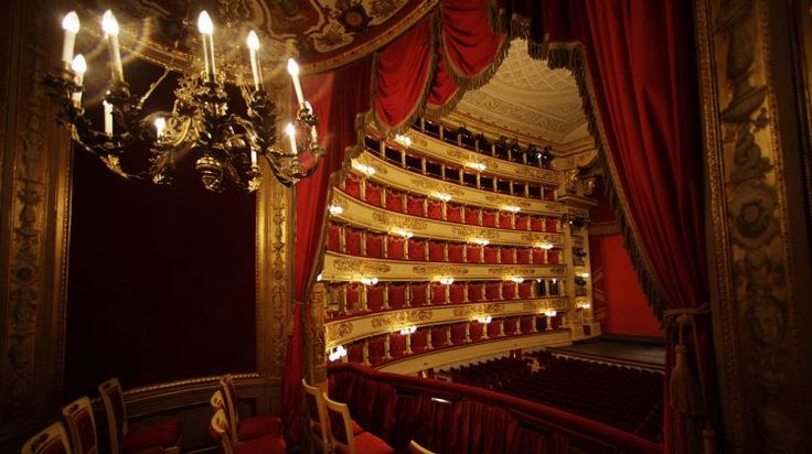 Vista dal palco reale sul palcoscenico del Teatro alla Scala di Milano - View from the royal box to the stage of Theatre alla Scala in Milan