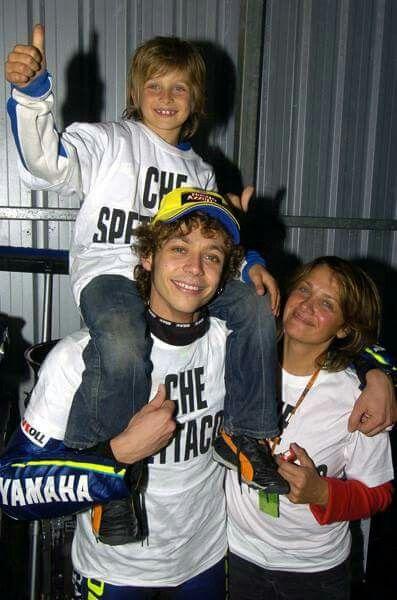 Vale, Luca Marini A& Mom (Stefania)