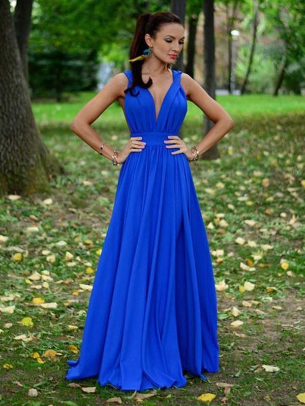 95e6295f738 Chic A Line Chiffon Prom Dress Modest Beautiful Cheap Long Prom Dress   VB1652