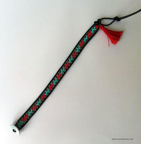 Wrap BraceletPeyote Dorado Mexican Beaded by NazoDesign on Etsy, $10.00