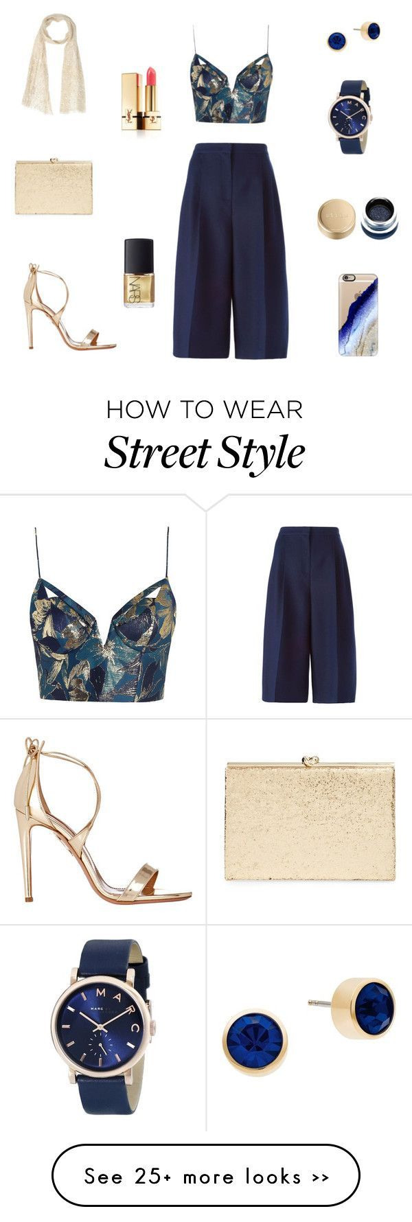 """Sapphire"" by lucija93 on Polyvore featuring mode, Zimmermann, Valentino, Michael Kors, Aquazzura, Marc Jacobs, Kate Spade, SCERVINO STREET, Casetify et Yves Saint Laurent"