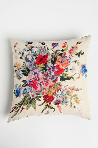 Floral Cushion Cover at Urban Outfitters. Stunning simple illustrative design