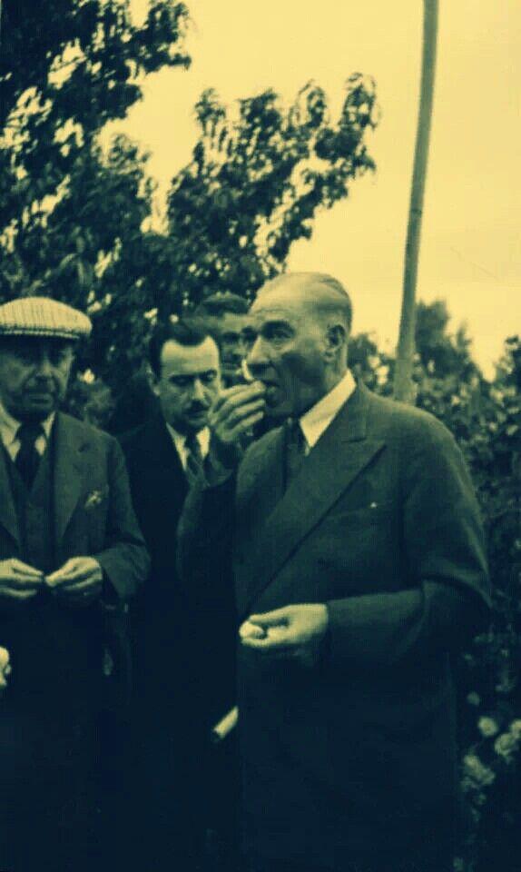 """《Atatürk'ün Mersin'e yaptığı seyahatte yanında Celal Bayar, İçişleri Bakanı Şükrü Kaya, Sabiha Gökçen ve her zaman yanında bulunması adet haline gelen kişiler vardı...Yakup Ersoy'un portakal bahçesine gidildi. Orada narenciye hakkında konuşmalar yapılırken, Sabiha Gökçen soymuş olduğu bir mandalinayı Atatürk'e ikram etti.  -""""Yok""""dedi. Atatürk,  -""""Bana bir çakı verin, ben kendi elimle bir ağaçtan portakal keseceğim, kendi elimle soyacağım ve yiyeceğim, bunuda ilk defa yapmış olacağım."""""""