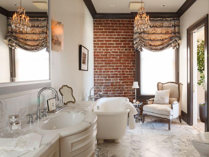 Exciting Bathroom Interior Design Ideas Brick Wall Accent