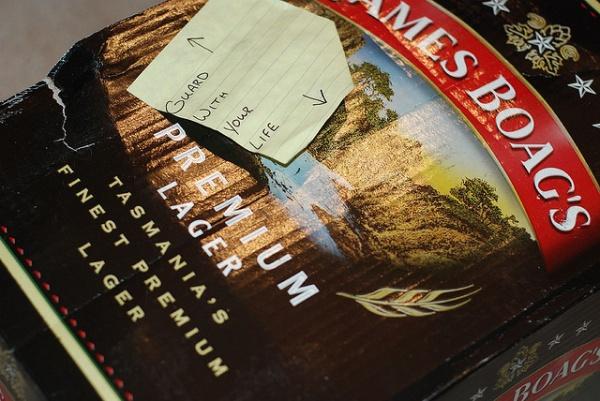 James Boag's famous Tasmanian beer
