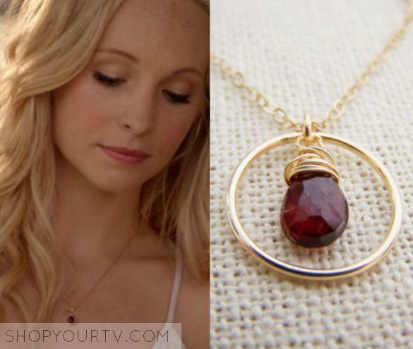 The Vampire Diaries: Season 7 Episode 1 Caroline's Circle Stone Necklace