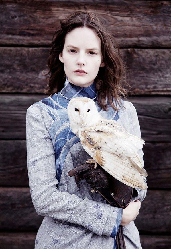 sara blomqvist • ben toms: Fashion, Style, Ben Toms, Sara Blomqvist, Beautiful, Barns Owl, Snowy Owl, Photo, Twin Magazines