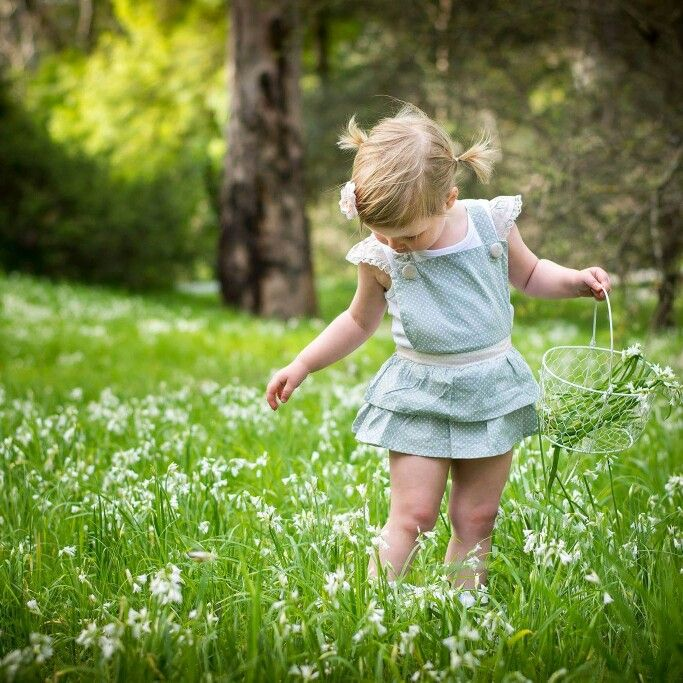 Toddler photography 2 year old flower picking