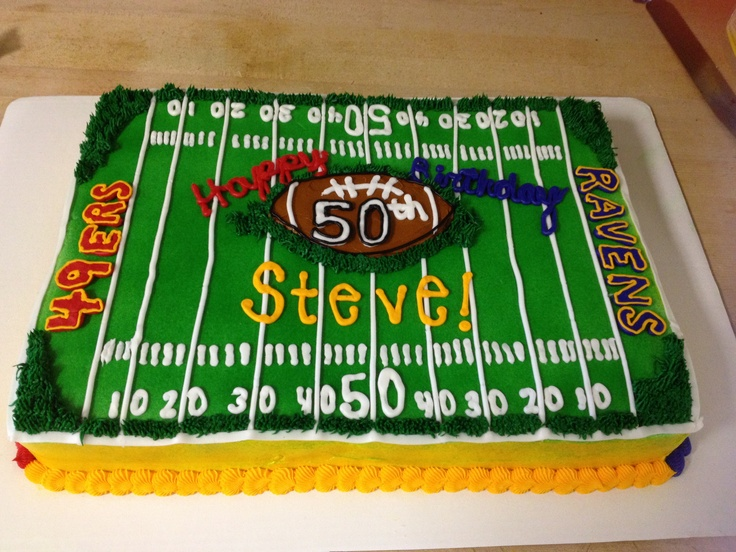 Birthday Cake Designs Football
