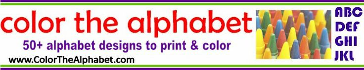 Tons of alphabets to print and color... good for many projects :)