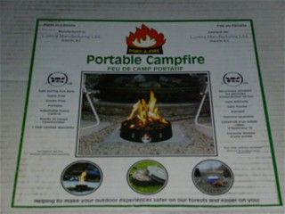 Campfire that runs on propane or natural gas