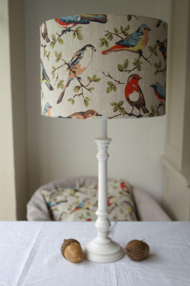 Cath Kidston- Garden Birds Handmade Lampshade 30cm Drum