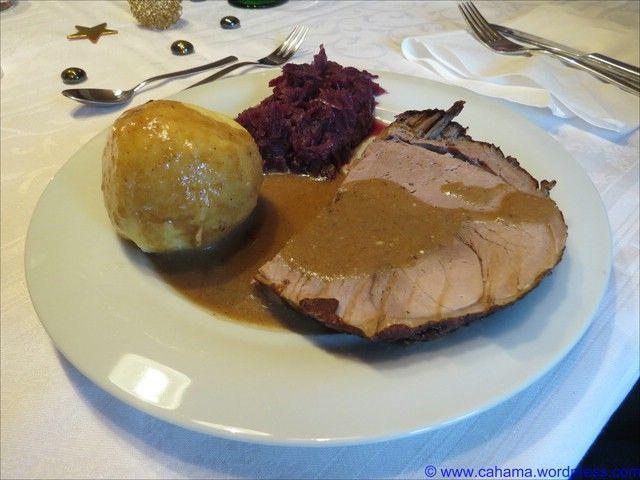 Unser Weihnachtsmenü 2014: Kürbis-Creme-Suppe Schinkenpastete Wildschwein in Buttermilch-Rotwein-Sauce Feigen in Marsala