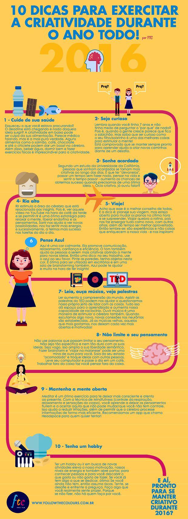 infográfico manter a criatividade alta