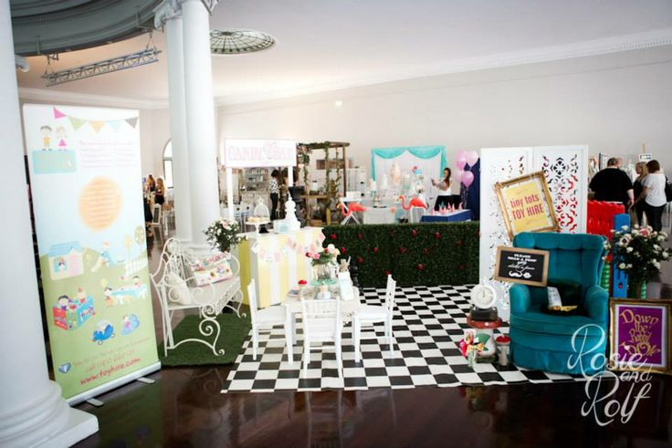 Alice in Wonderland Stand at Confetti Fair 2014 - By Tiny Tots Toy Hire