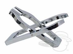 Folding Metal Pipe Stand - Chrome - Best Cigar Prices