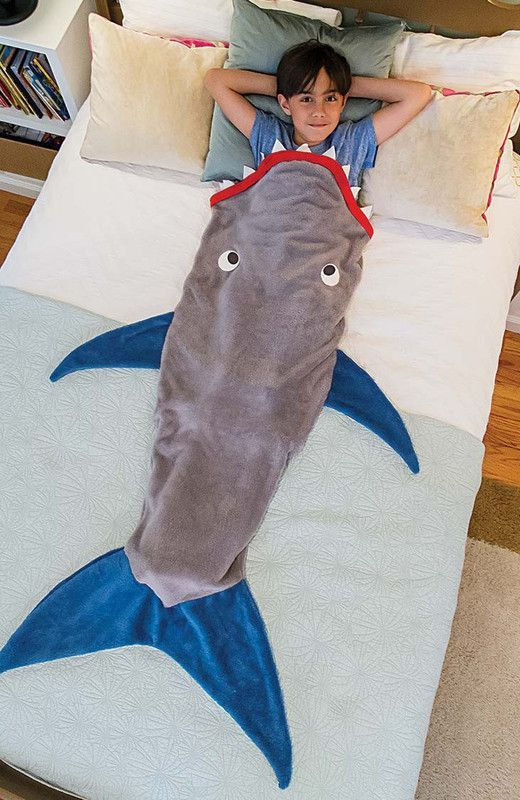 Kids love to climb into this fluffy fleece shark blankets. Blanket is made of anti pill fleece and is extremely soft. Measurements are approximately