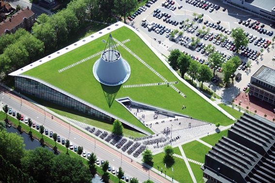 Greenroofs.com Project of the Week: 1/2/12, Delft University of Technology Library, Delft, The Netherlands, 16,146 sf. Greenroof