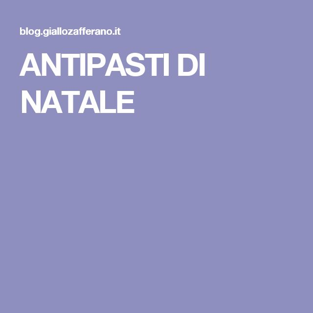 ANTIPASTI DI NATALE