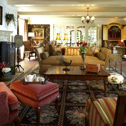 Traditional Living Room english cottage Design Ideas