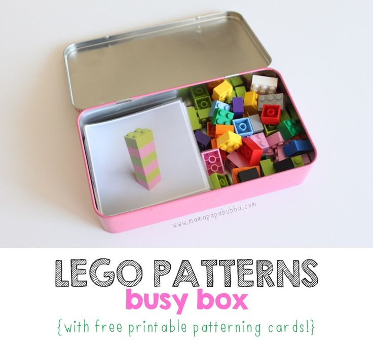 LEGO Patterns Busy Box {with free printable patterning cards!}   Mama.Papa.Bubba.