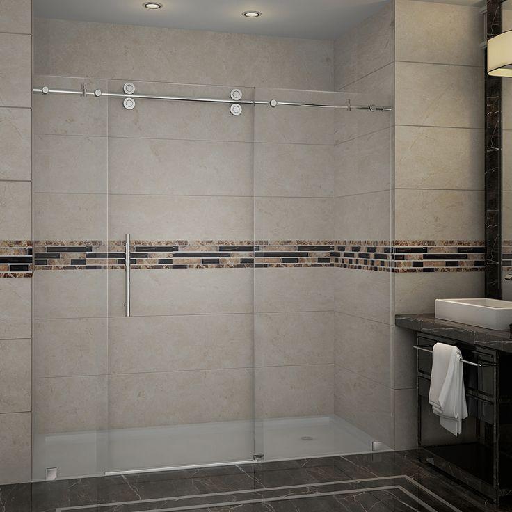 Aston  - SDR978 LANGHAM Completely Frameless Sliding Alcove Shower Door  (http://www.astonbath.com/sdr978-completely-frameless-sliding-shower-door/)