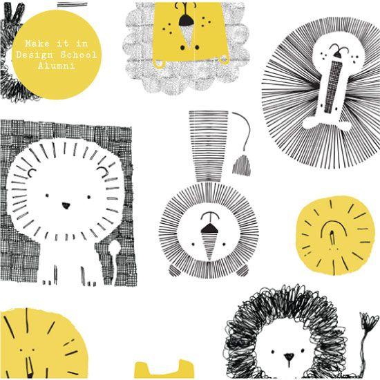 Sarah Braithwaite | #100daysofpattern | Make it in design | Week 4: CHILDREN & BABIES | www.makeitindesign.com/blog