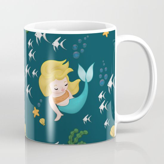 Mermaid Pattern Mug by Squibble