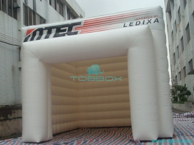 White Cube Inflatable Garage Tent
