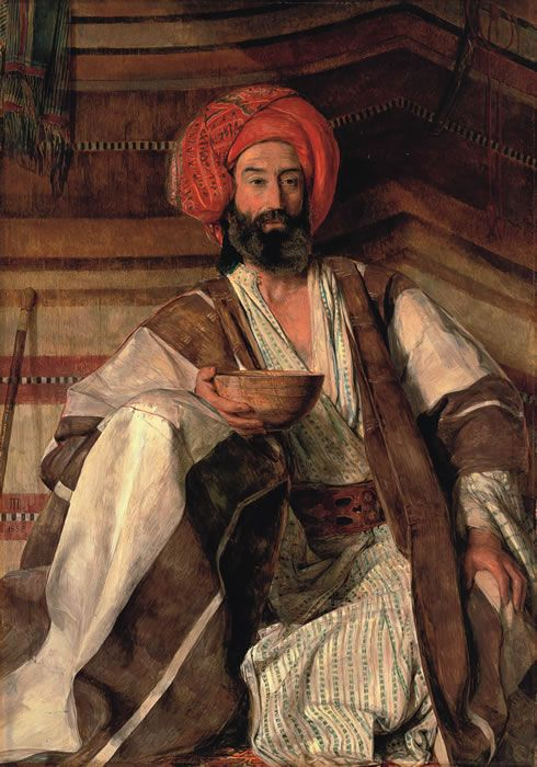 """An Arab of the Desert of Sinai,"" by John Frederick Lewis (British 1804–1876)"