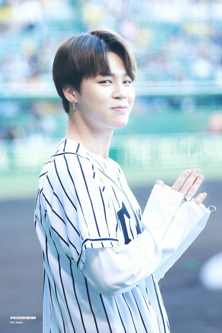 Jimin ❤ BTS At The Hanshin Tigers vs Nippon Ham Fighters Baseball Game! For the ceremonial first pitch~ (PRESS - 170602) #BTS #방탄소년단