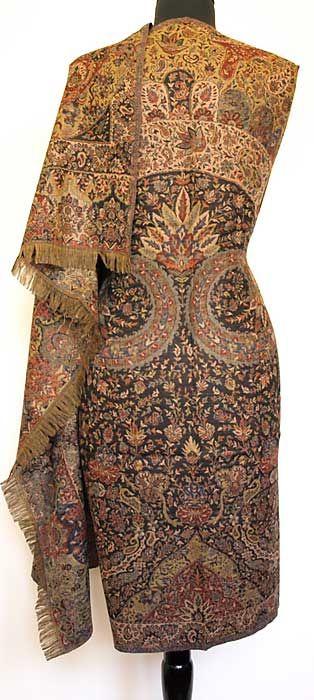 Large Superior Jamavar Shawl Paisley Jamawar from India Heavy Very Detailed | eBay