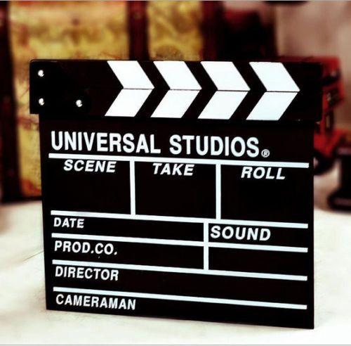 Movie TV Directors Black Clapper Hollywood Drama Rehearsal Cut Board Slate New