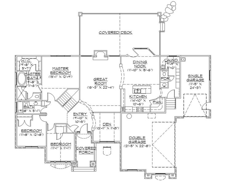 The 25 best rambler house plans ideas on pinterest for Rambler floor plans with basement