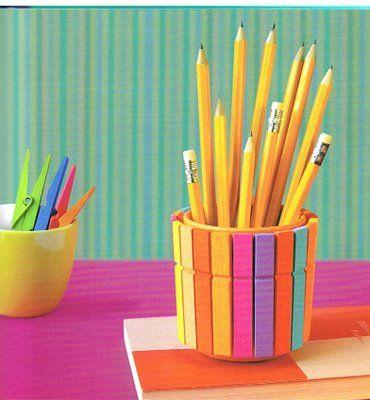 Lapiceros DIY para organizar tu escritorio