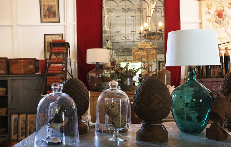 Antique Glass Bottle Lamps