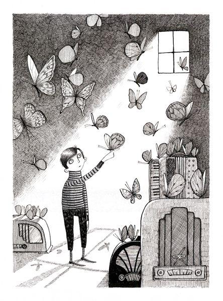 littlechien, littlechien via carnetimaginaire ...: Children Artworks, Art Illustrations, David Robert Illustrations, British Artists, Art Really, 03 David, Illustrations Work, Book, Illustrations Style