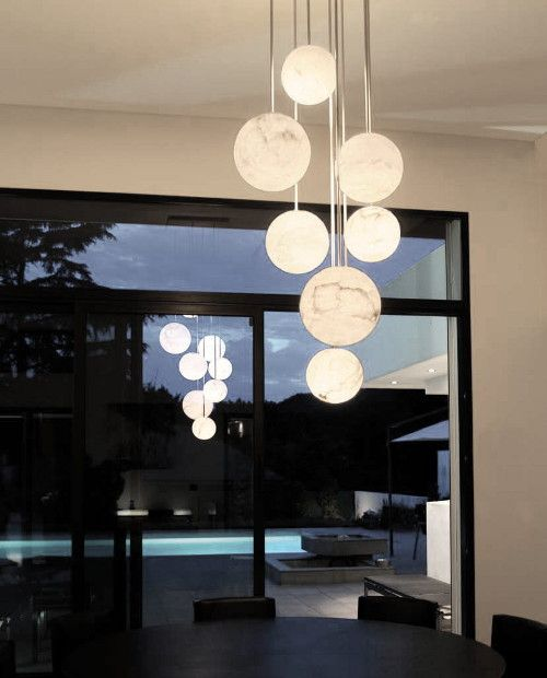 High end pendant lights by atelier alain ellouz harmonie 10 chandelier