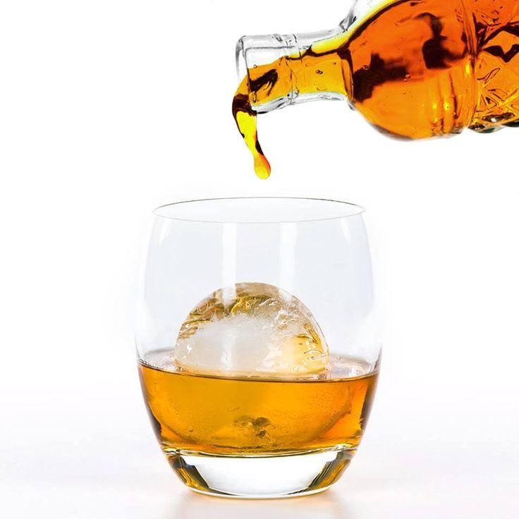 Scotch with ice ball.