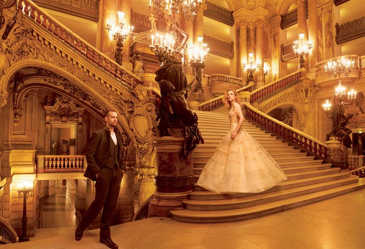 Grand Entrance: Natalia Vodianova and the Paris Opera Ballet's Benjamin Millepied by Annie Leibovitz for Vogue US November 2014