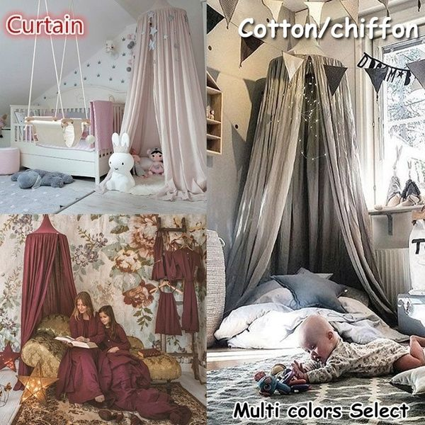 Nordic Style Dome Mosquito Nets Curtain for Bedding Set Princess Bed Valance Bed Netting Kids Room Decor – Products