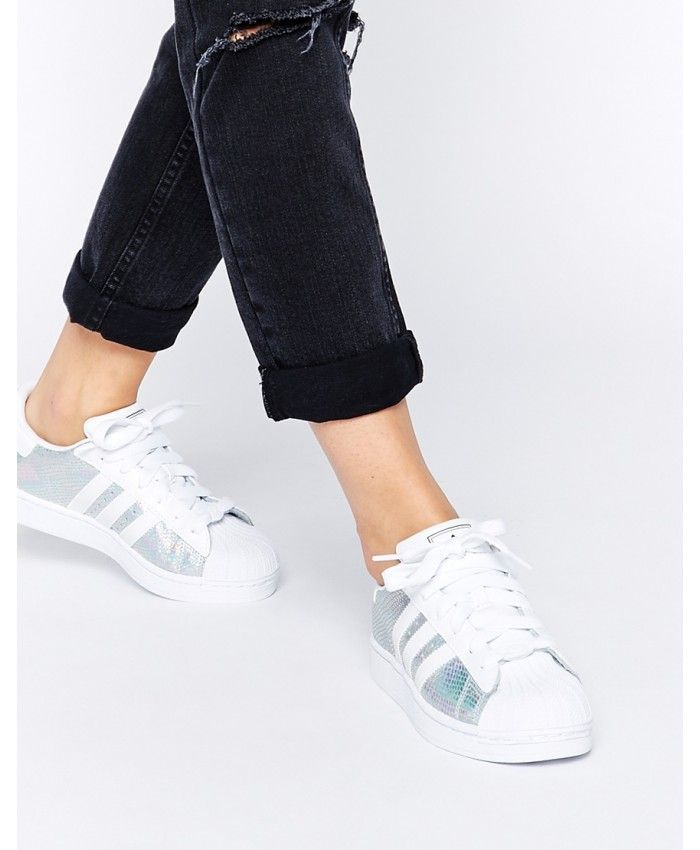 Adidas Originals Superstar II Metallic White Shoes