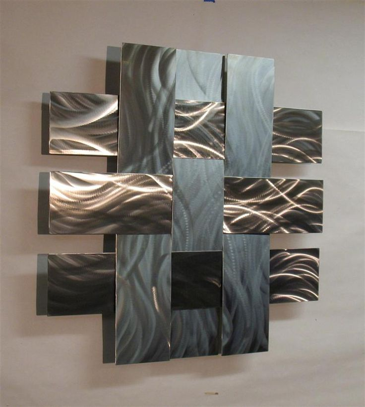 Contemporary Metal Wall Art Sculpture Stainless 14S, Atlanta Georgia Part 54