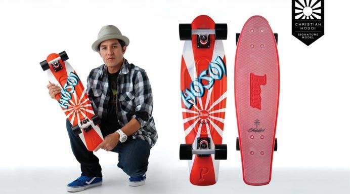 "Nickel 27"" Christian Hosoi Signature Model The Original Plastic Skateboard"