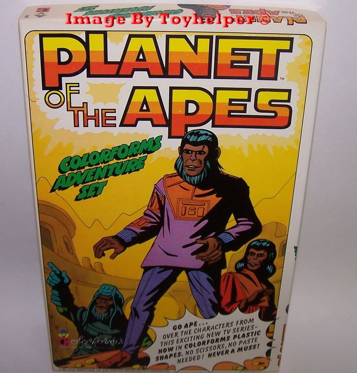 Planet of the Apes Colorforms Adventure Play Set Unused Vintage #Colorforms