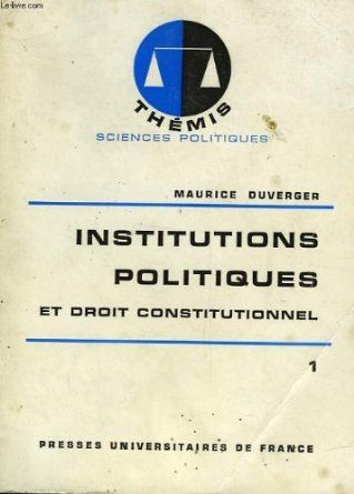 In the 1970 edition of his textbook Maurice Duverger first introduced the concept of semi-presidentiaism