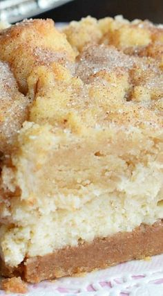 Snickerdoodle Cheesecake Bars - delicious Southern dessert recipe!