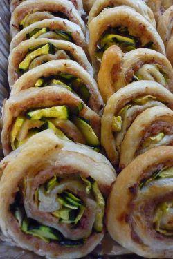 Girelle di pasta sfoglia, #zucchine e #prosciutto cotto