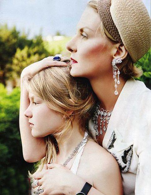 Russian movie star Renata Litvinova and her daughter Uliana