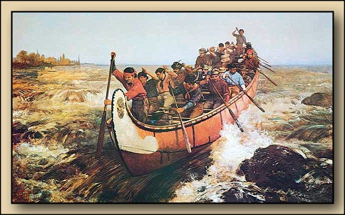 Shooting the Rapids, 1879 by Frances Anne Hopkins (1838-1919) Canadian History